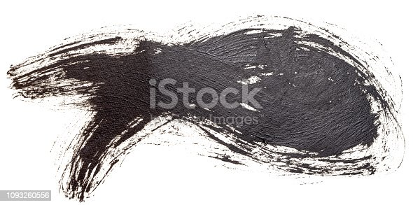 istock Hand drawn oil painting christian fish symbol, Hand painted with ink brush. Decorative retro typographic elements. Hand lettering and calligraphy. 1093260556