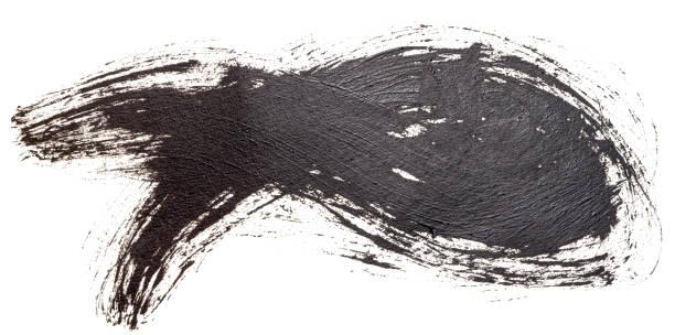 hand dras oljemålning kristna fisksymbol, handmålade med bläck borste. dekorativa retro typografiska element. hand bokstäver och kalligrafi. - animal doodle bildbanksfoton och bilder