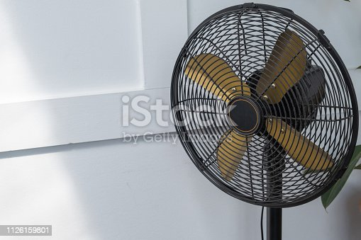 898247648 istock photo Hand drawn Old electric fan with retro look feeling, Antique and old fan with white background 1126159801