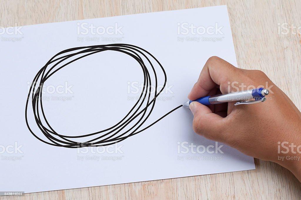 hand drawn scribble circles stock photo