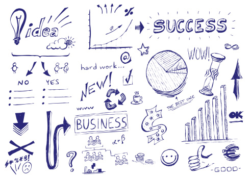 istock Hand drawn vector illustration: Business success 478749043