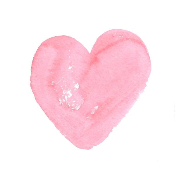 Handgezeichnete Aquarell Strich für den Hintergrund in der Form eines Herzens. – Foto