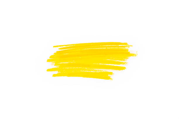 Hand drawn yellow highlighter stripes. Marker strokes background template. Optimized for one click color changes stock photo