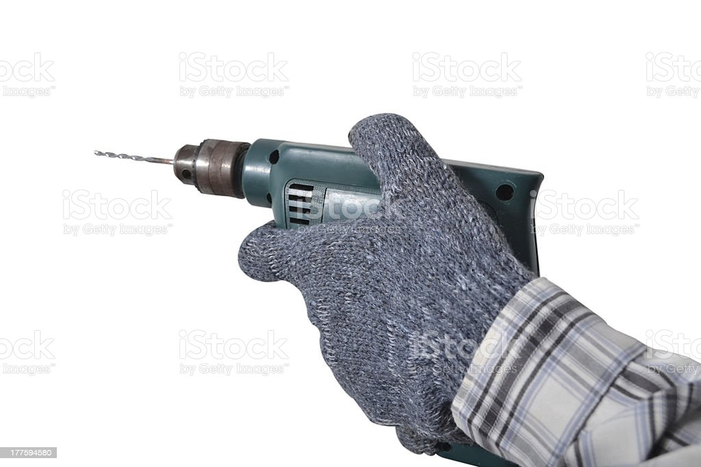 Hand drill. royalty-free stock photo