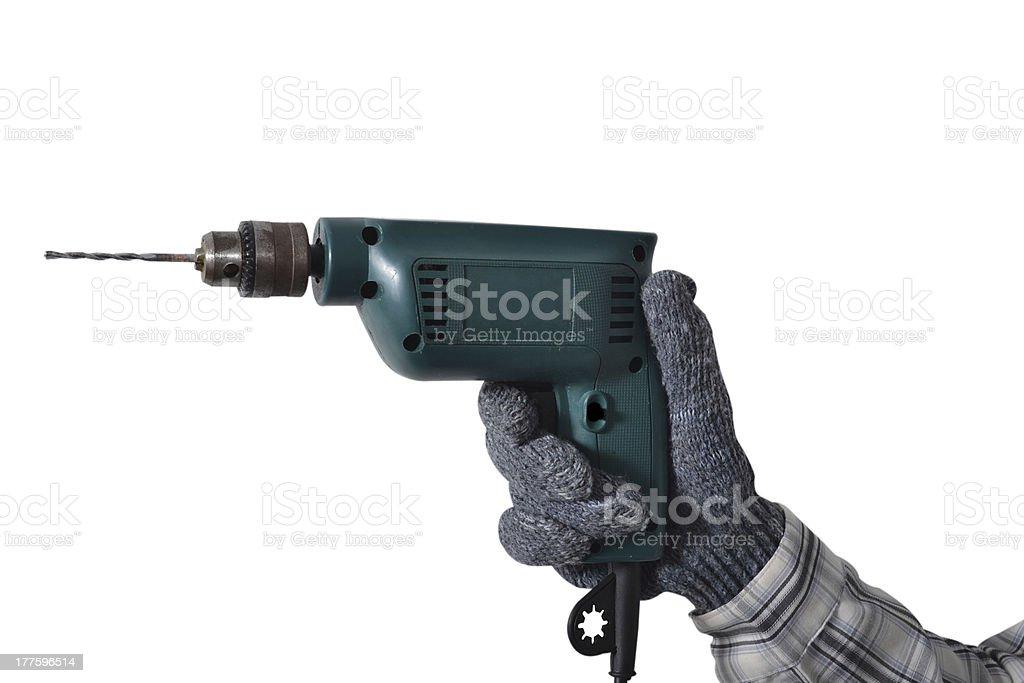 Hand drill. royalty-free stock photo
