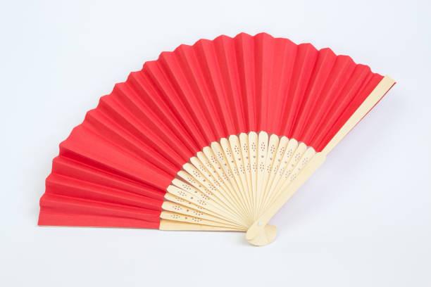 hand fan - japanischer fächer stock-fotos und bilder