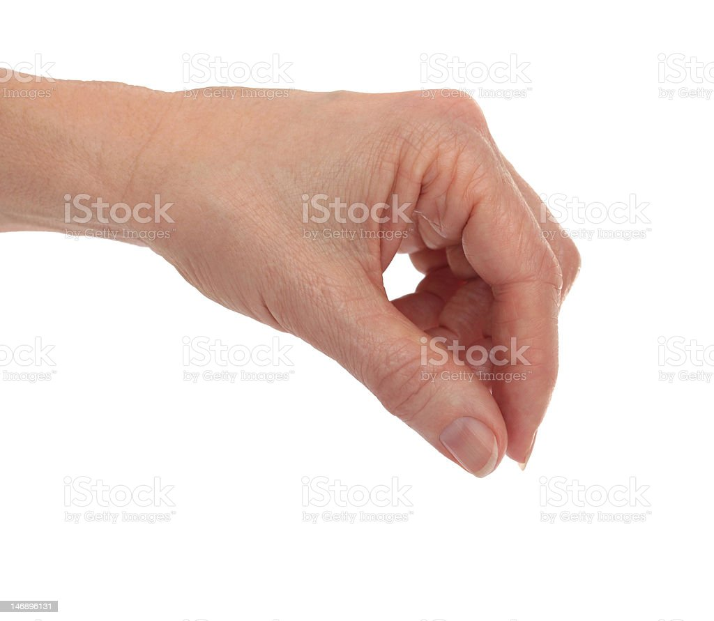 Hand Fingers Placing royalty-free stock photo