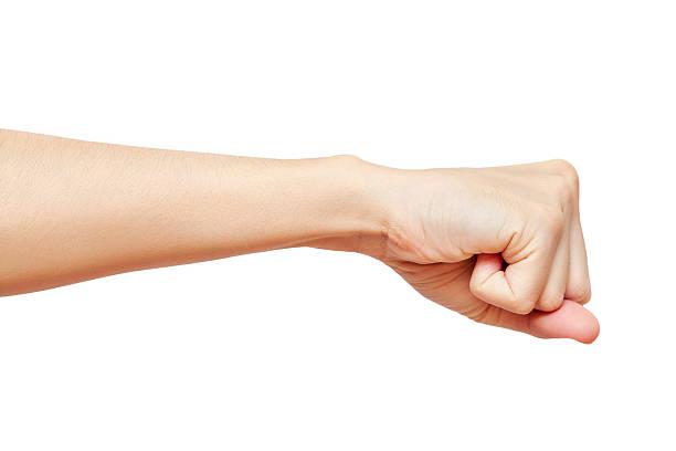 Hand Faust, isoliert auf weißem Hintergrund – Foto