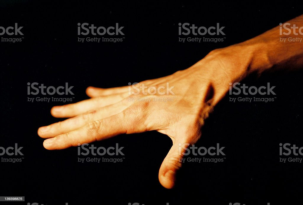 Hand - Flat royalty-free stock photo