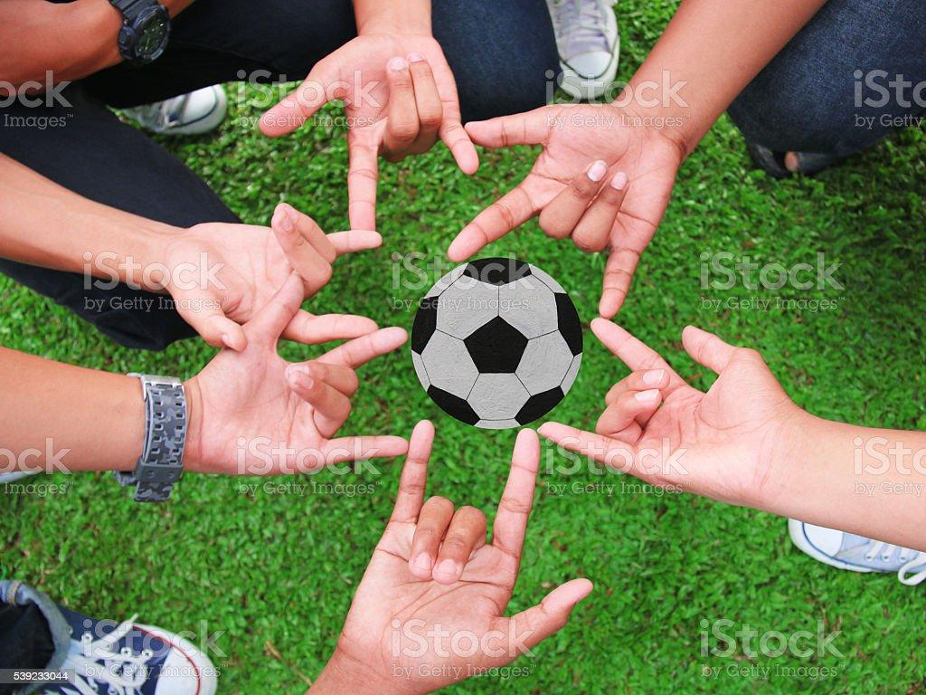 hand, football royalty-free stock photo