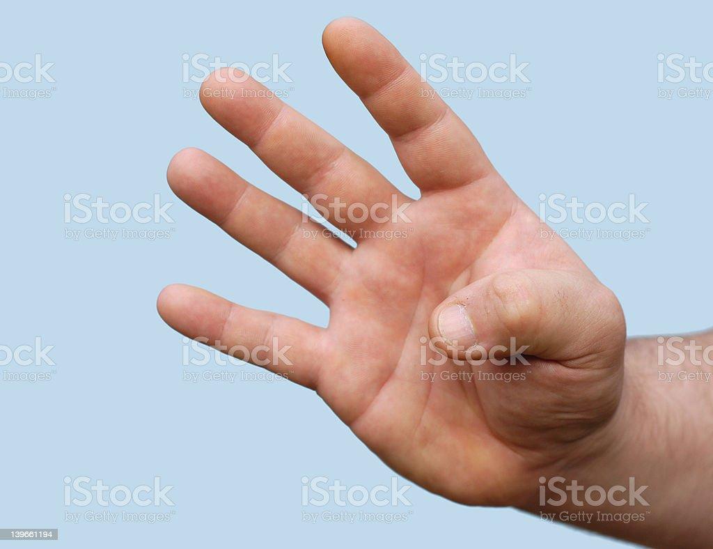 hand : four stock photo