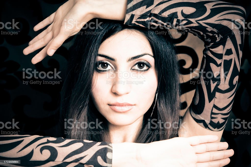 Hand Frame royalty-free stock photo
