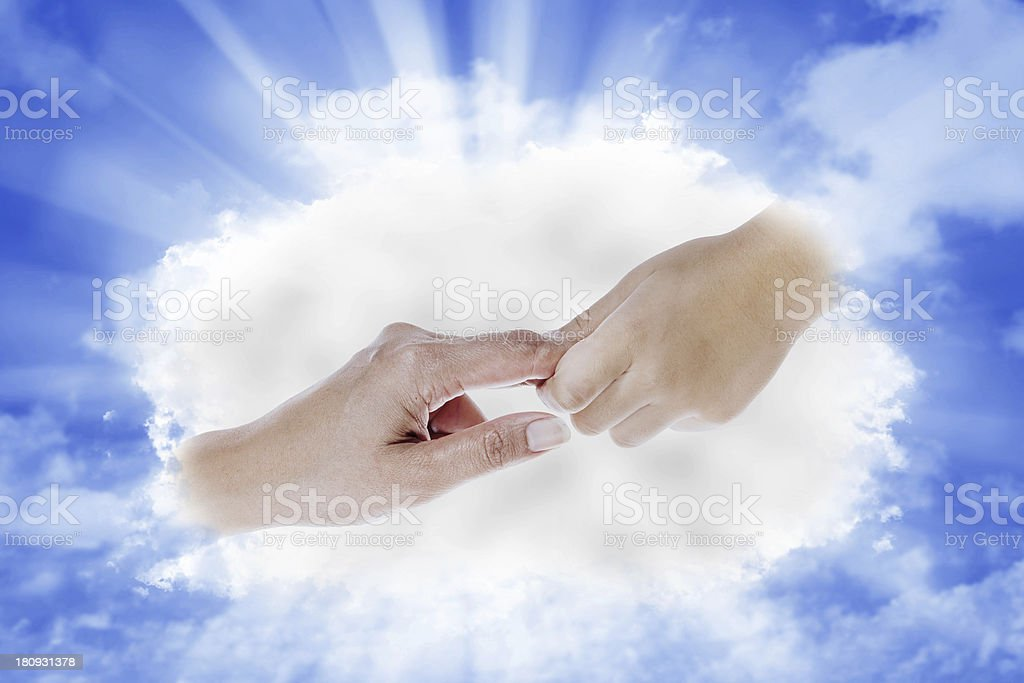 Hand from Heaven royalty-free stock photo