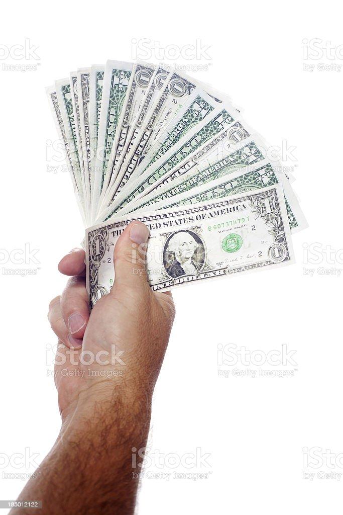 Hand Full of Cash royalty-free stock photo