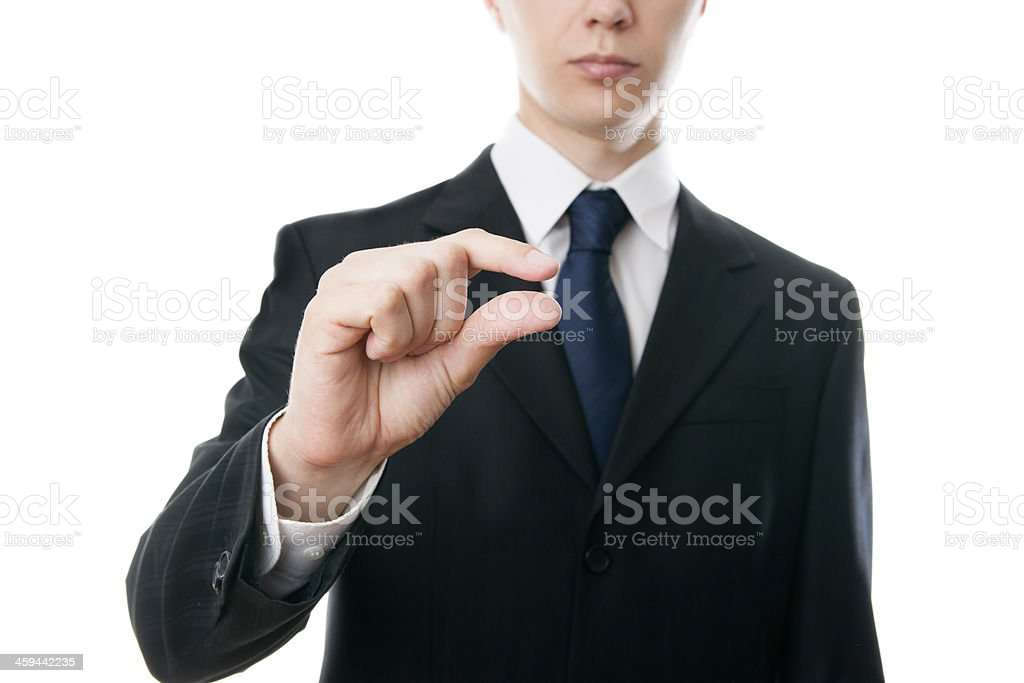 Hand gesture businessman royalty-free stock photo
