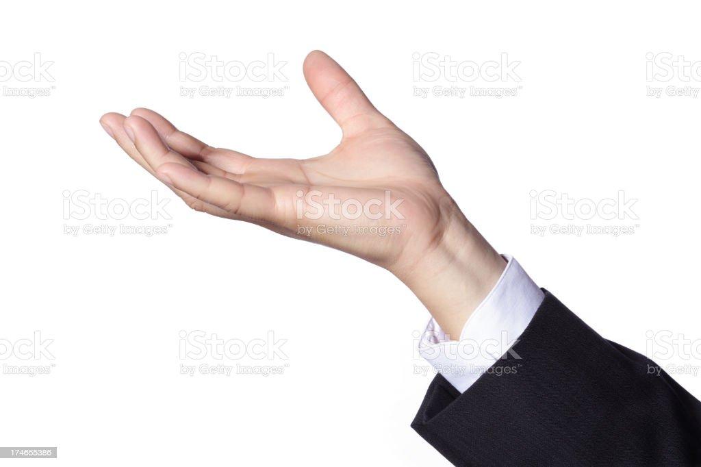 Hand Gesture - Holding stock photo
