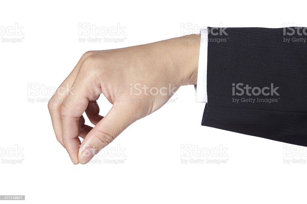 Hand Gesture - Picking royalty-free stock photo