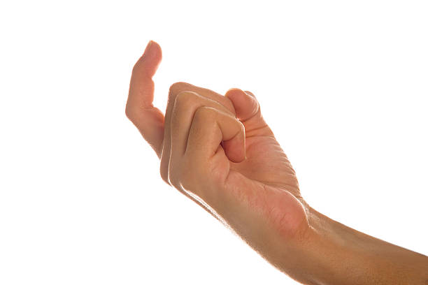 Hand Gesturing ''Come Here'' stock photo