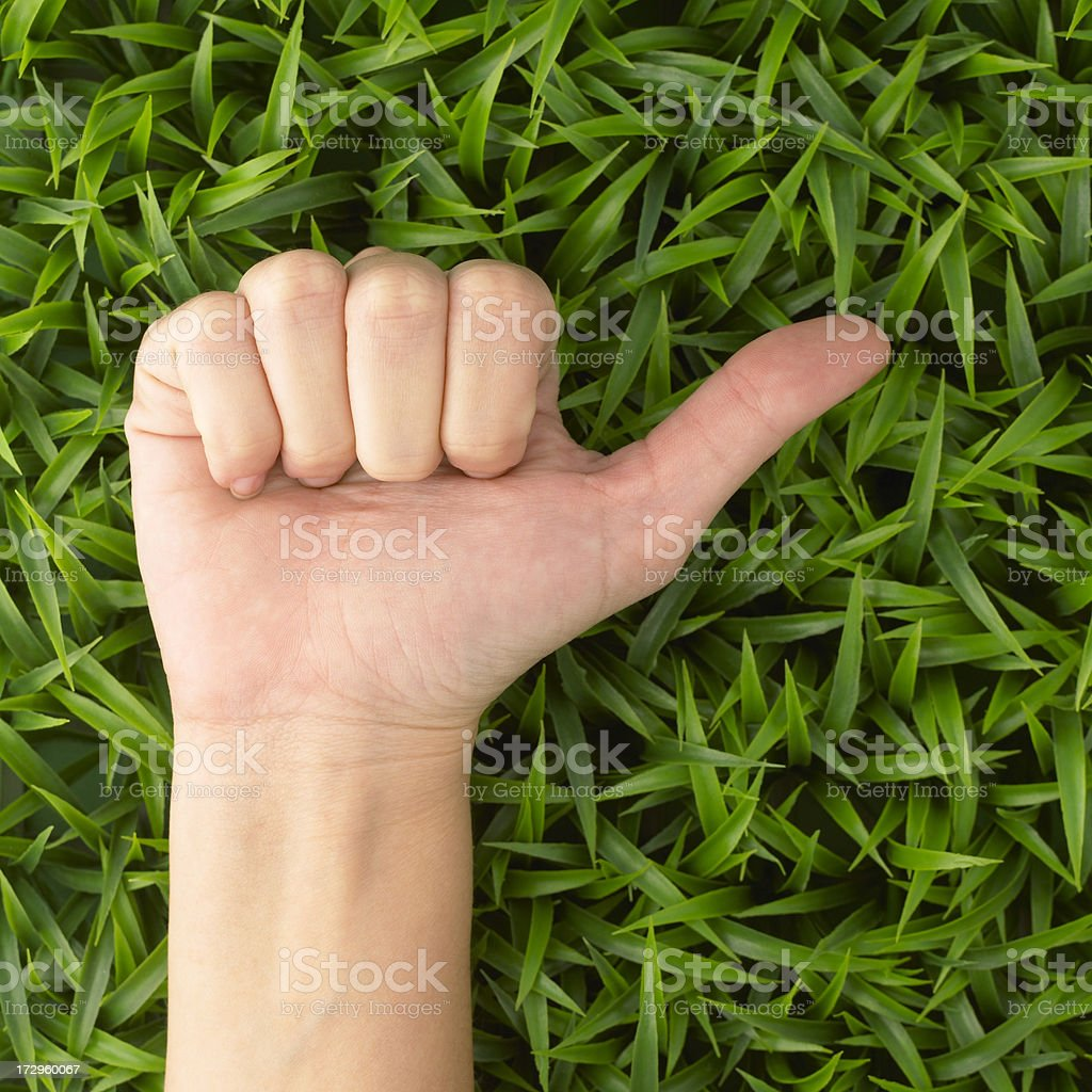 Hand gesturing royalty-free stock photo