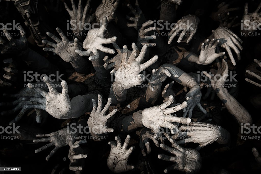 hand ghost ,zombie Bloody hands background,maniac,Blood zombie h - foto de stock