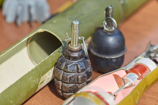 RGD - 5, hand grenade stock photo