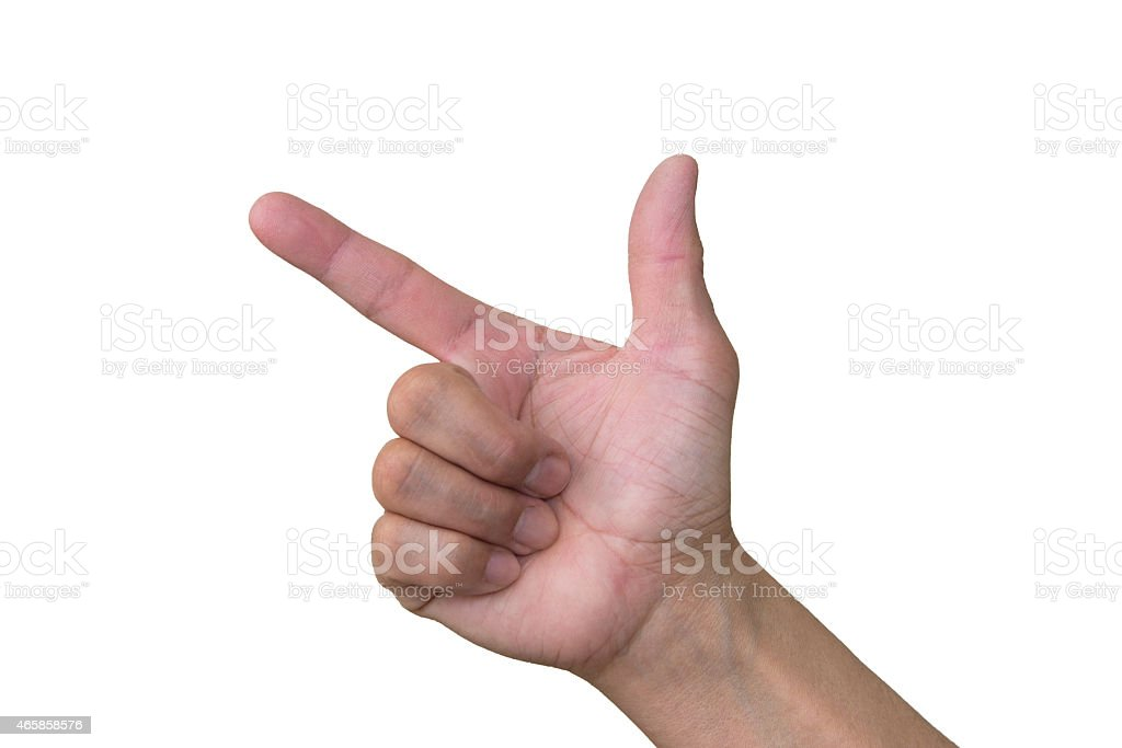 Hand Gun Sign stock photo