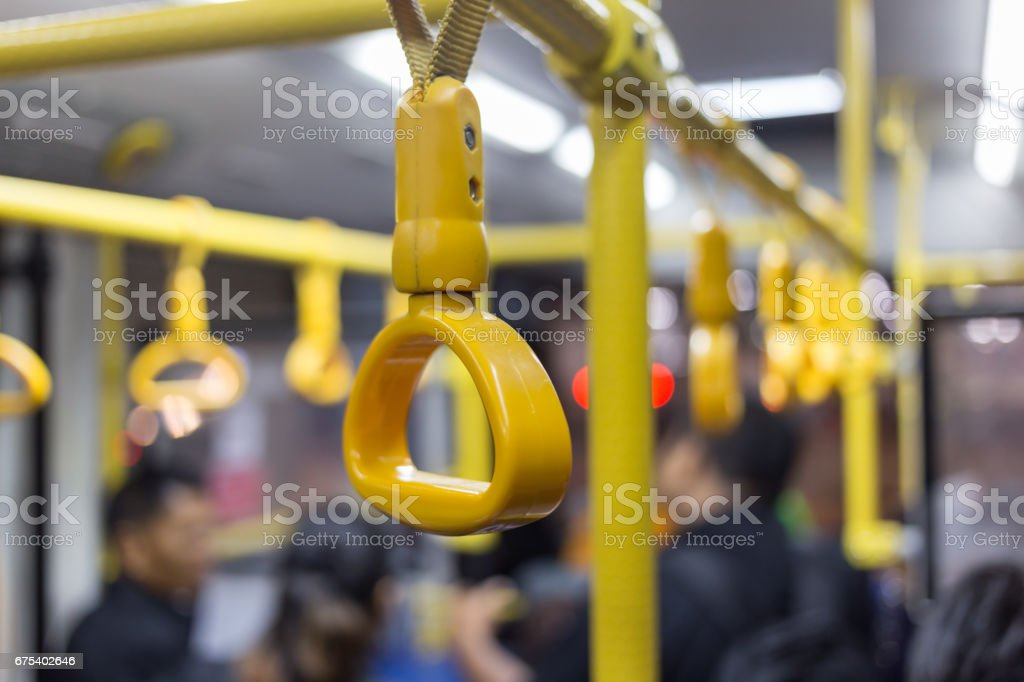 Hand handle on the train . royalty-free stock photo