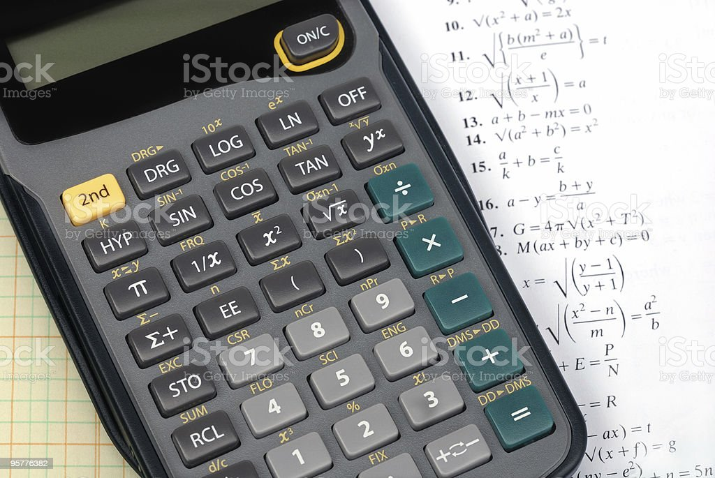 Hand held calculator royalty-free stock photo
