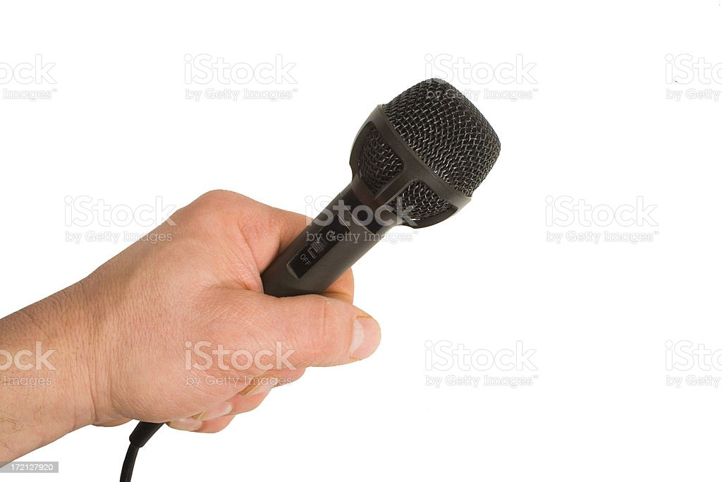 Hand Held Microphone royalty-free stock photo
