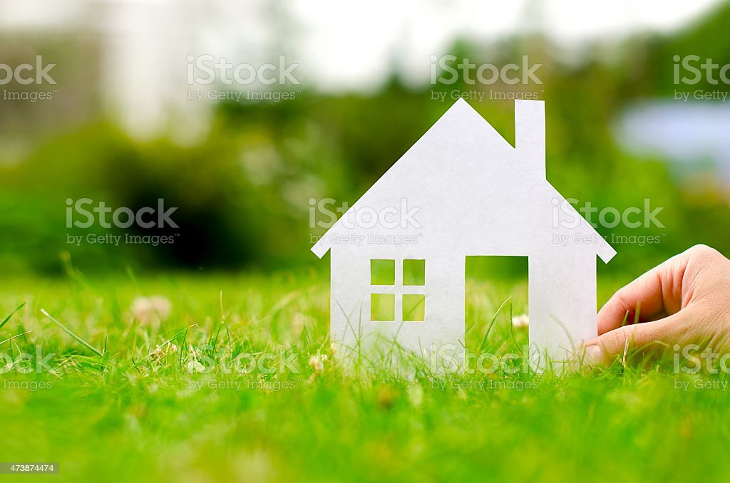 Hand hold house stock photo