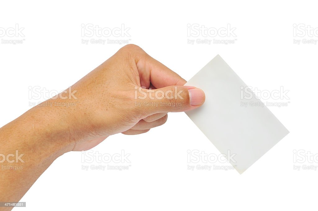 Hand Holding A Blank Business Card Stock Photo - Download ...