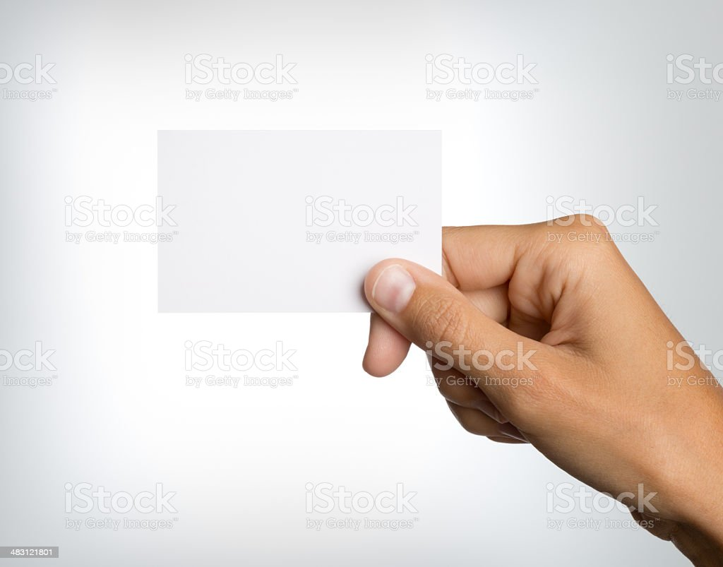 Technology Management Image: Hand Holding A Blank Business Card Stock Photo & More
