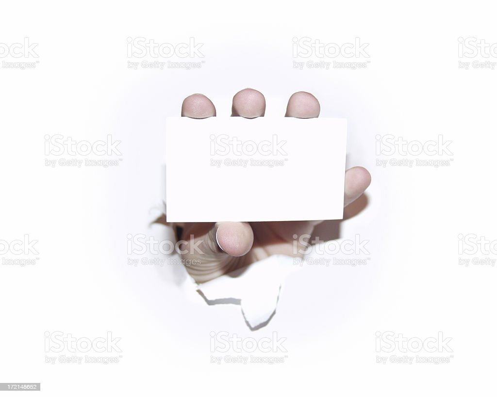 Hand Holding a Business Card royalty-free stock photo