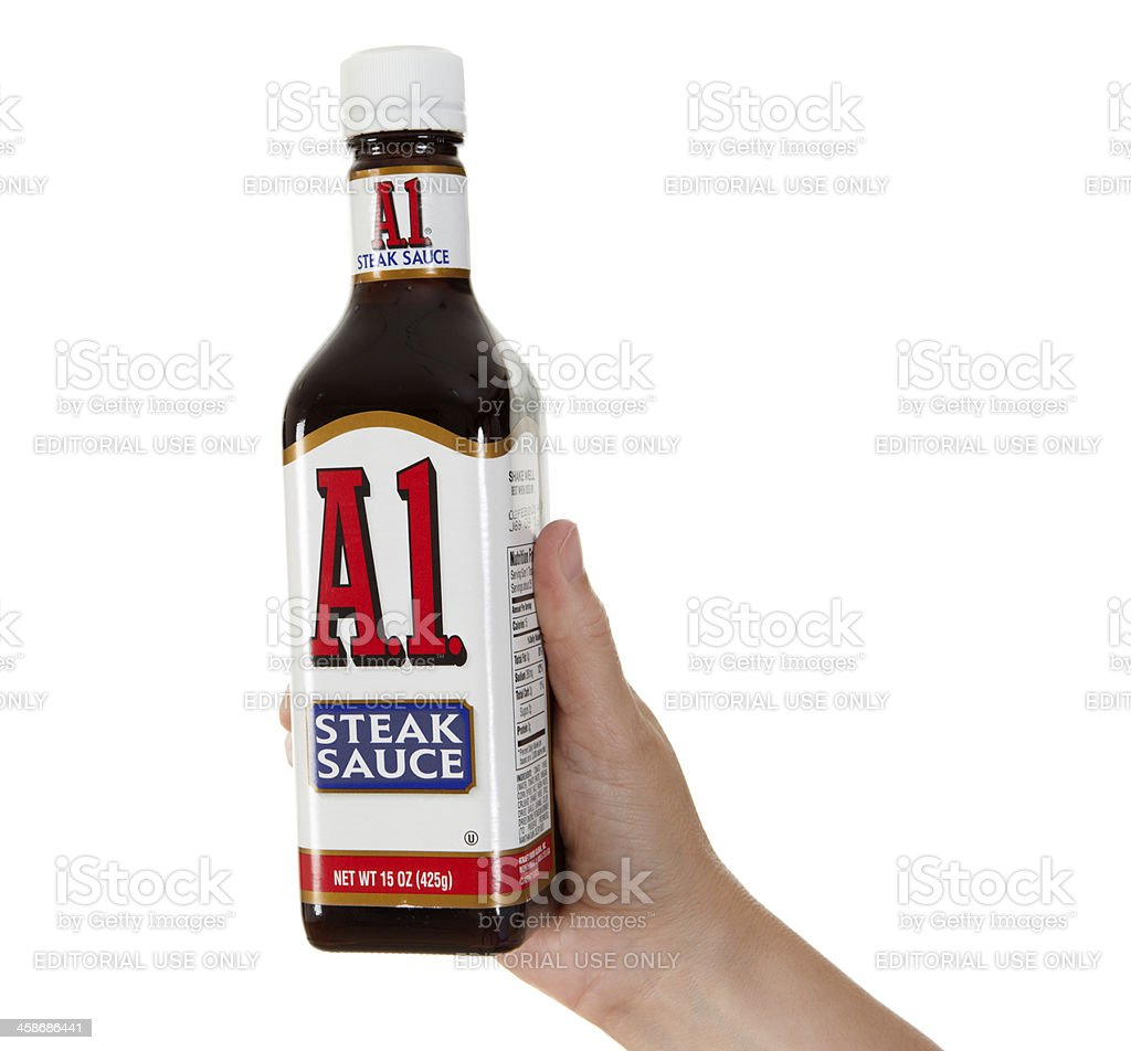 Hand Holding A1 Steak Sauce Stock Photo Download Image Now Istock