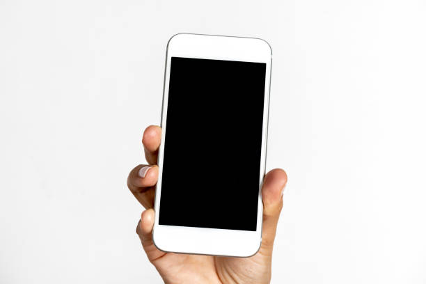 Hand Holding Black Screen Handy – Foto