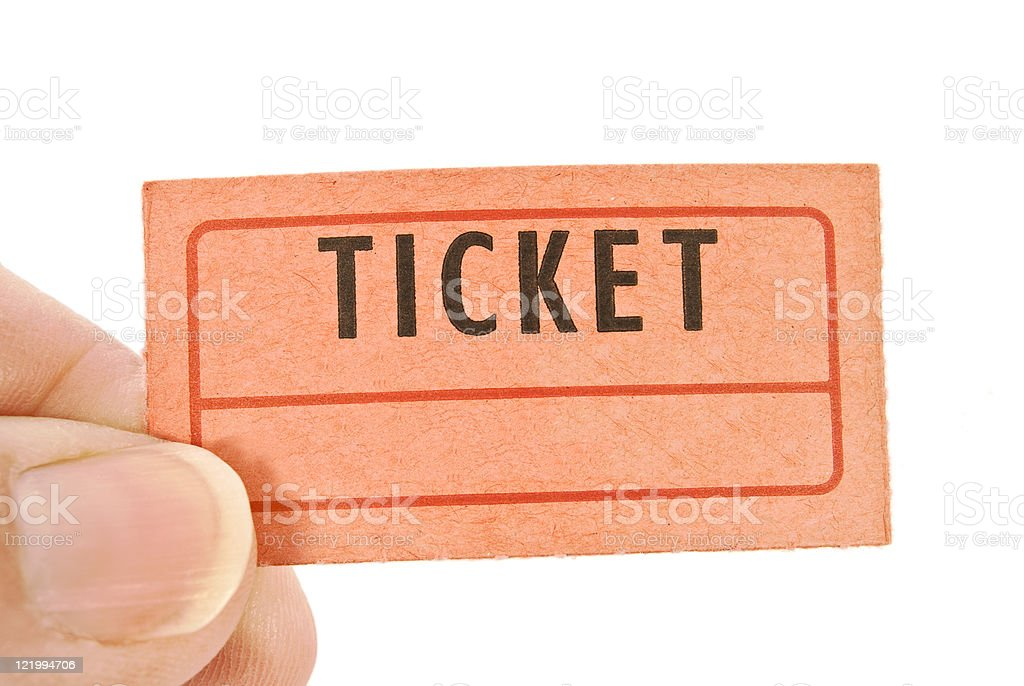 Hand Holding Blank Ticket royalty-free stock photo