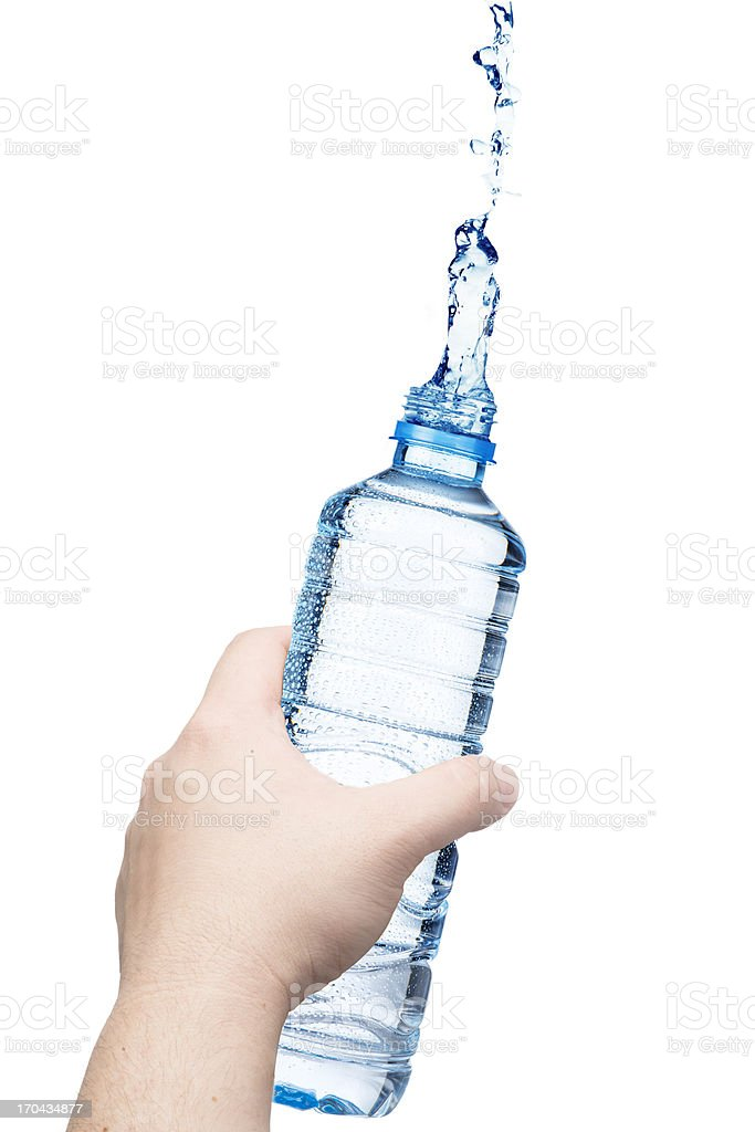 Hand holding bottle of Water royalty-free stock photo