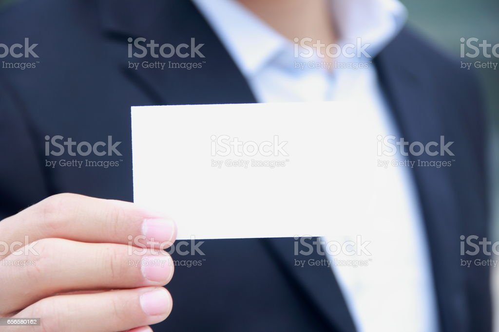Hand Holding Business Card stock photo | iStock