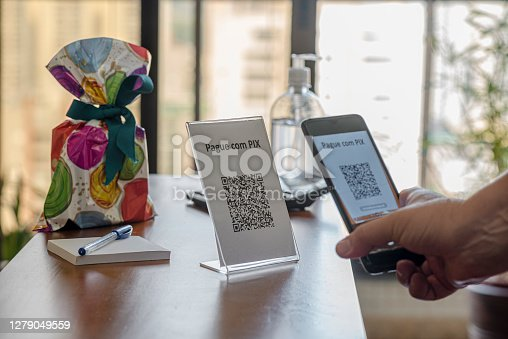 QR Code facilitating payments and electronic money transfers. Also with new PIX modality, Brazil.