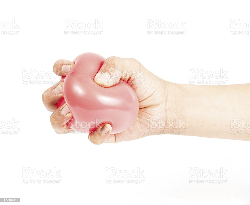 Hand holding colorful helium balloons royalty-free stock photo