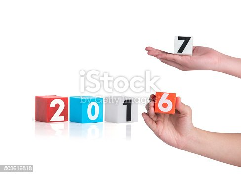 istock hand holding colorful plastic of year numbers 503616818