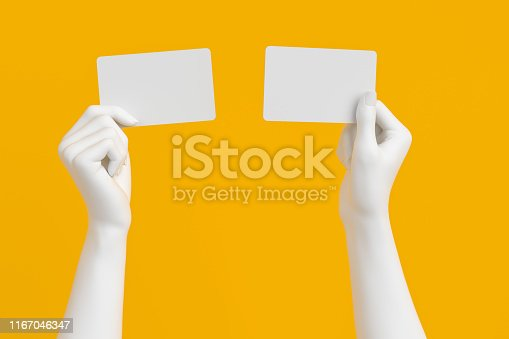 istock hand holding credit card or business card. 1167046347