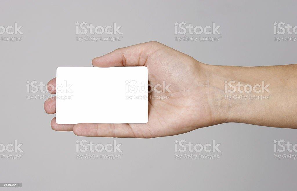 Hand holding credit card royaltyfri bildbanksbilder