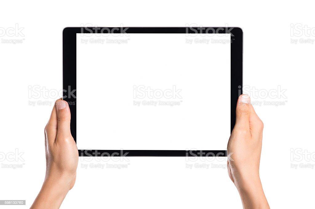 Main tenant Tablette numérique - Photo