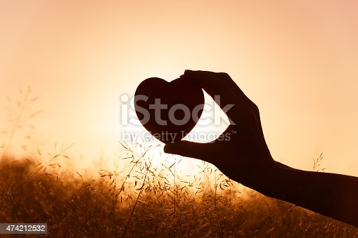 istock Hand holding heart 474212532