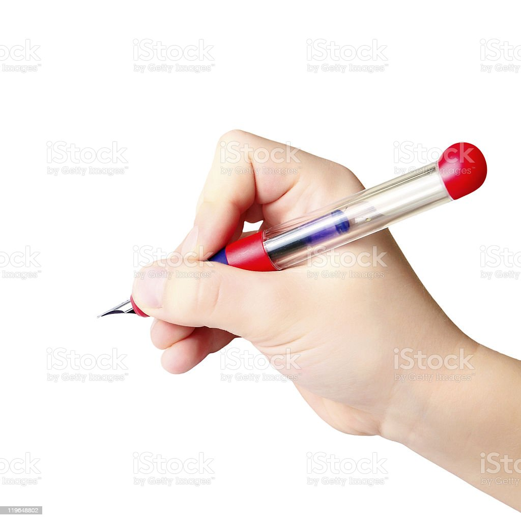 Hand holding Tinte pen – Foto