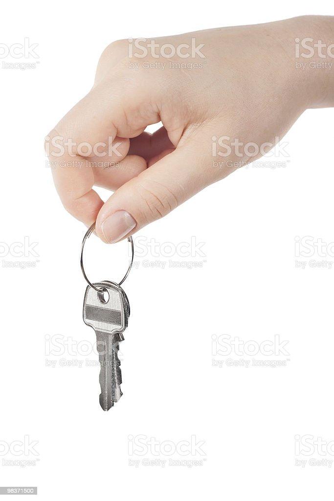 hand holding keys royalty-free stock photo