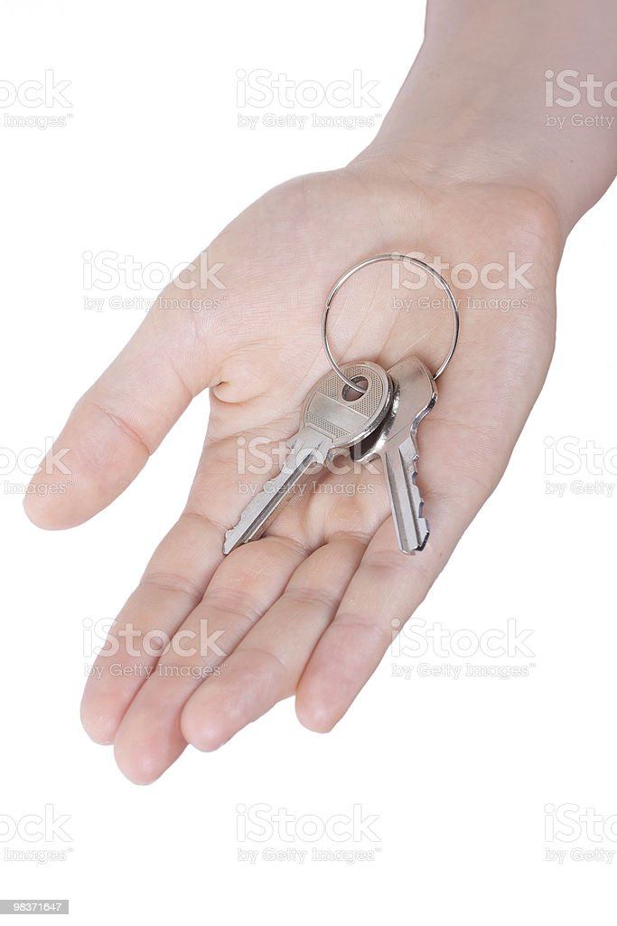 hand holding keys royalty-free stock photo