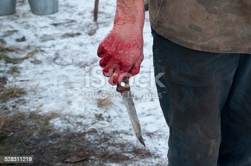 hand holding knife with blood stock photo more pictures of