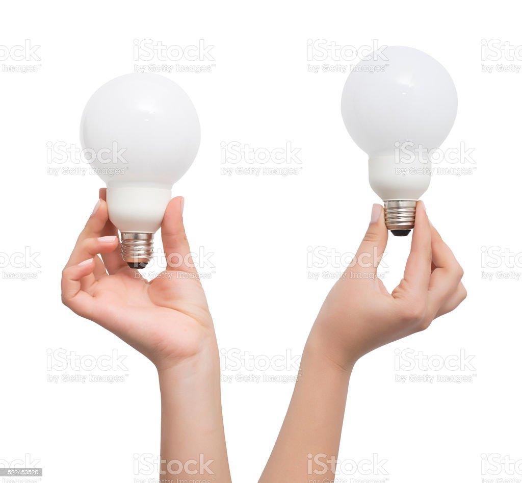 Hand halten Glühbirne – Foto